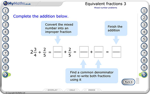 Primary equivalent fractions