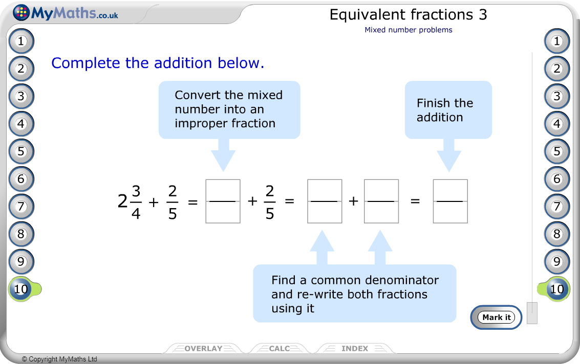 Equivalent Fractions 3
