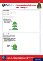 Secondary MyMaths Christmas Constructing Triangles Worksheet