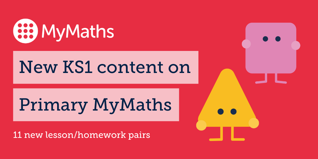 New KS1 content on Primary MyMaths